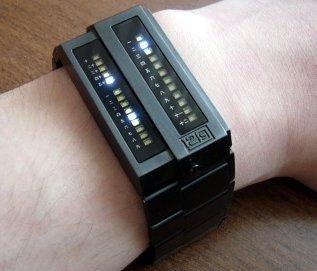 L Version Gunmetal wrist-watch by Twelve-5-9 from Tokyoflash Japan
