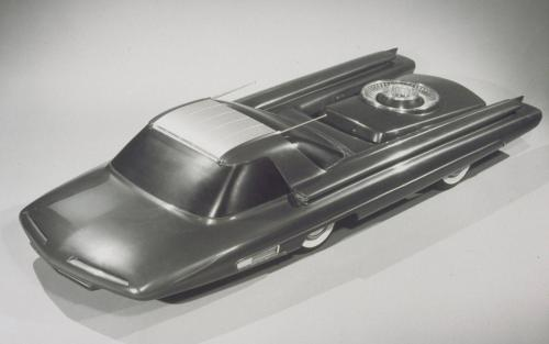 Don t you know that the Ford Motors company have developing automobile powered by tiny nuclear reactor in the late 50 s This project was called Ford Nucleon Some 3 8 scale models were shown