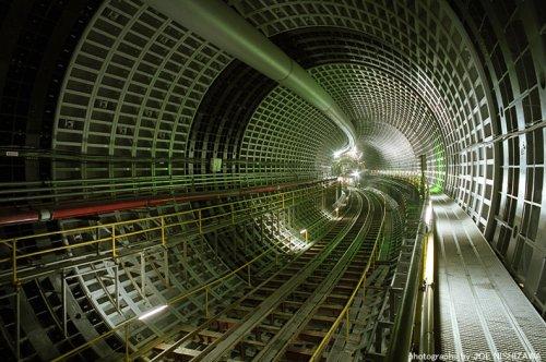 Shinjuku, Tokyo underground highway tunnels