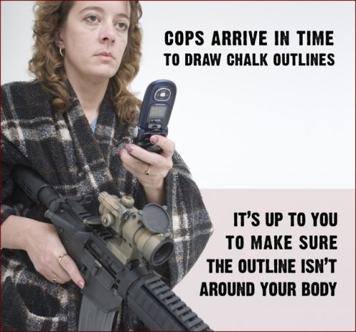 Cops arrive in time to draw chalk outline. It's up to you to make shure the outline isn't around your body