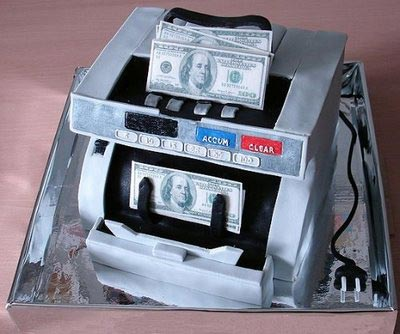 Banknote counting machine cake
