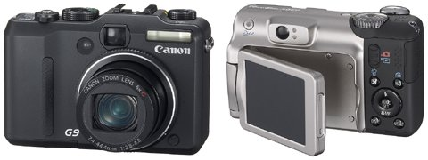Canon G9 and Canon A650IS digital cameras