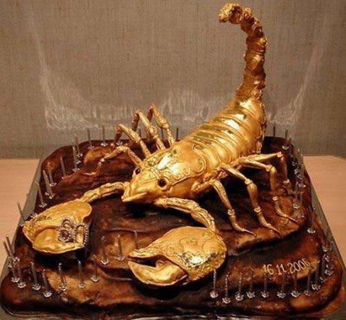 Scorpio zodiac sign cake