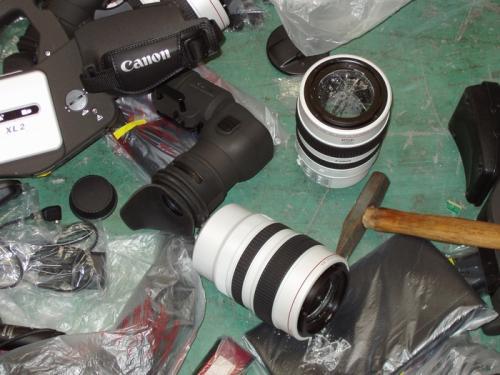Mass destruction of the Canon cameras