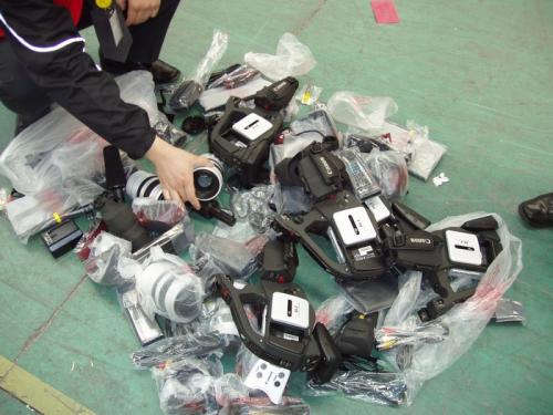 Mass destruction of the Canon cameras