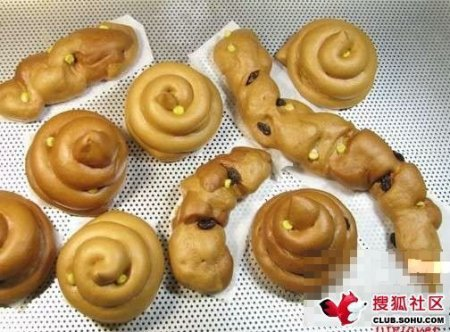 Feces shaped bread - made in China