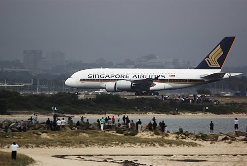 First A380 landed in Sydney