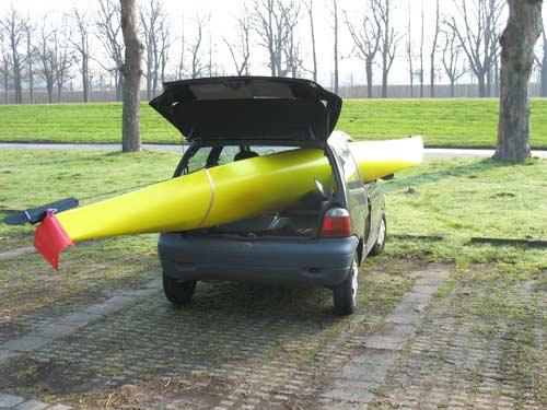 Weird logistics - transporting canoe
