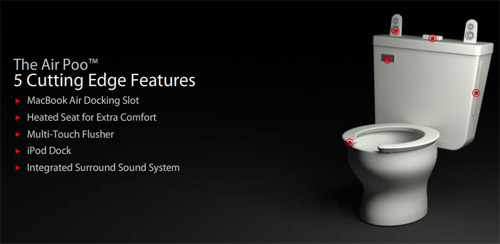 Air Poo - toilet with the MacBook air in mind