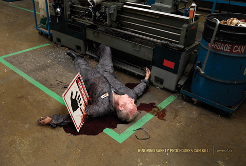Scary workplace safety posters