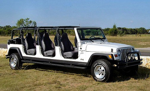 Weird limo: safary jeep
