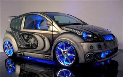 Painted and pimped Fiat Punto
