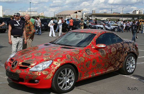 Painted Mercedes