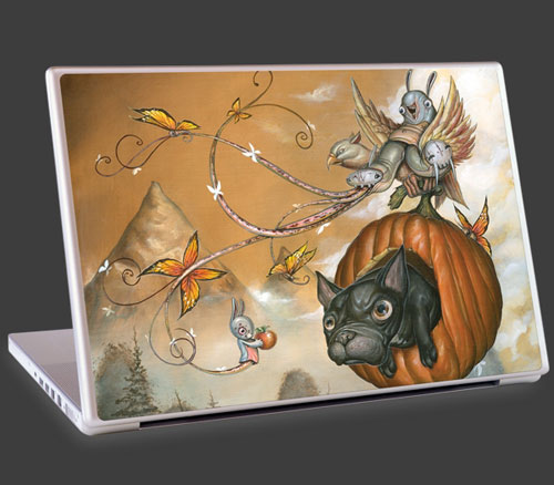 Greg Craola Simkins art on the laptop