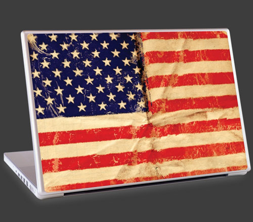 American flag laptop cover