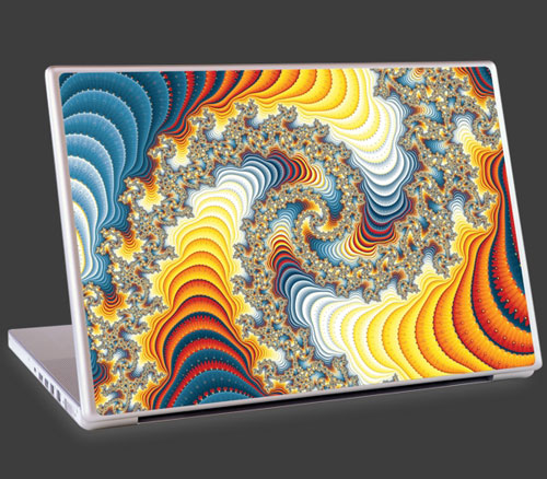 Gary Odom fractal graphics as laptop cover