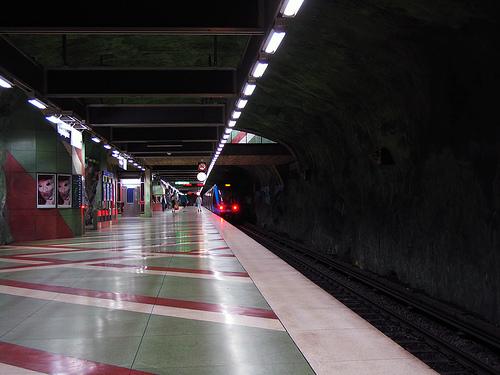 """Kungsträdgården (""""Kings Garden"""") subway station in Stockholm"""