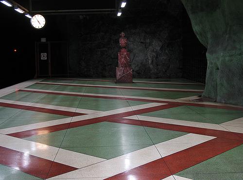 """Kungsträdgården (""""Kings Garden"""") subway station"""