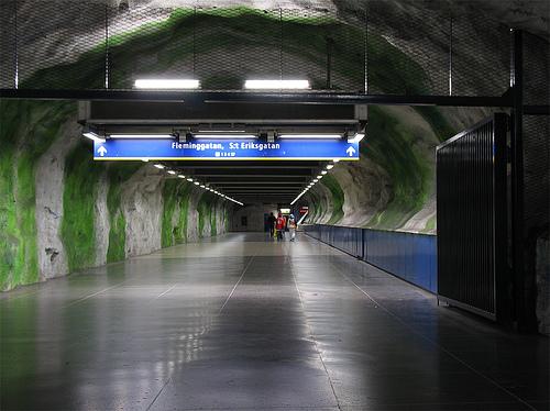 Fridhemsplan subway station in Stockholm