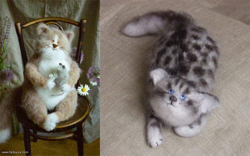 Stuffed cats by Natasha Fadeeva