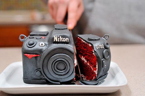 Nikon D700 cake