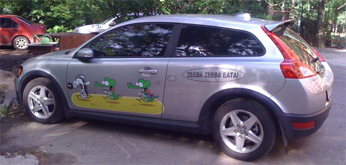 Stephan Pastis Zeeba Zeeba Eata car paint