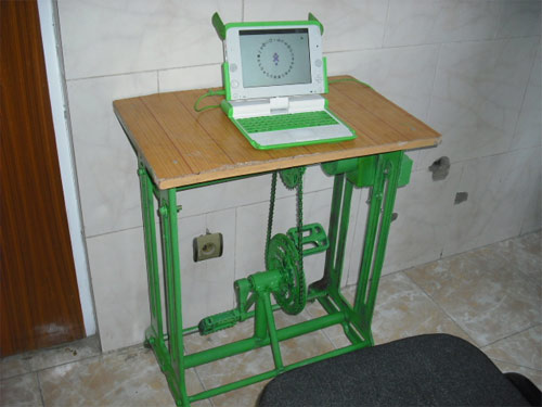 Pedal powered laptop