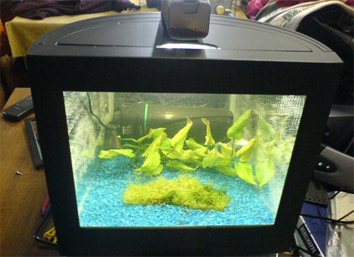 CRT display aquarium
