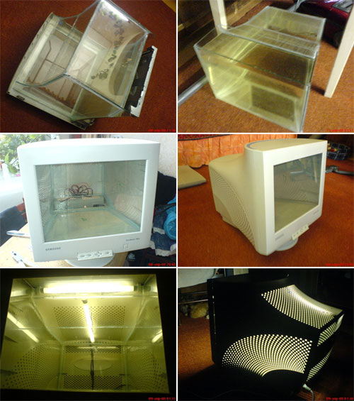 How to make aquarium out of an old CRT display
