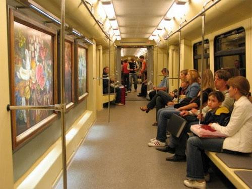 Moscow Metro museum car
