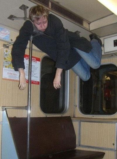 Moscow metro sleeper