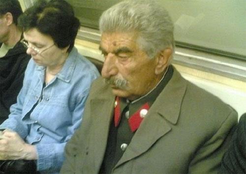Joseph Stalin in Moscow Metro