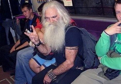 Leo Tolstoy in Moscow Metro