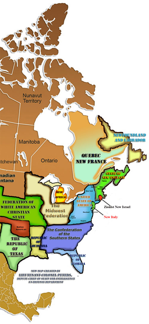 Peters map of America