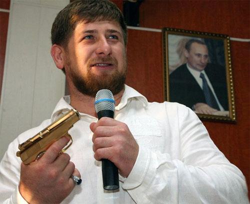 Ramzan Kadyrov golden gun
