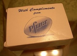 Pfizer soap box