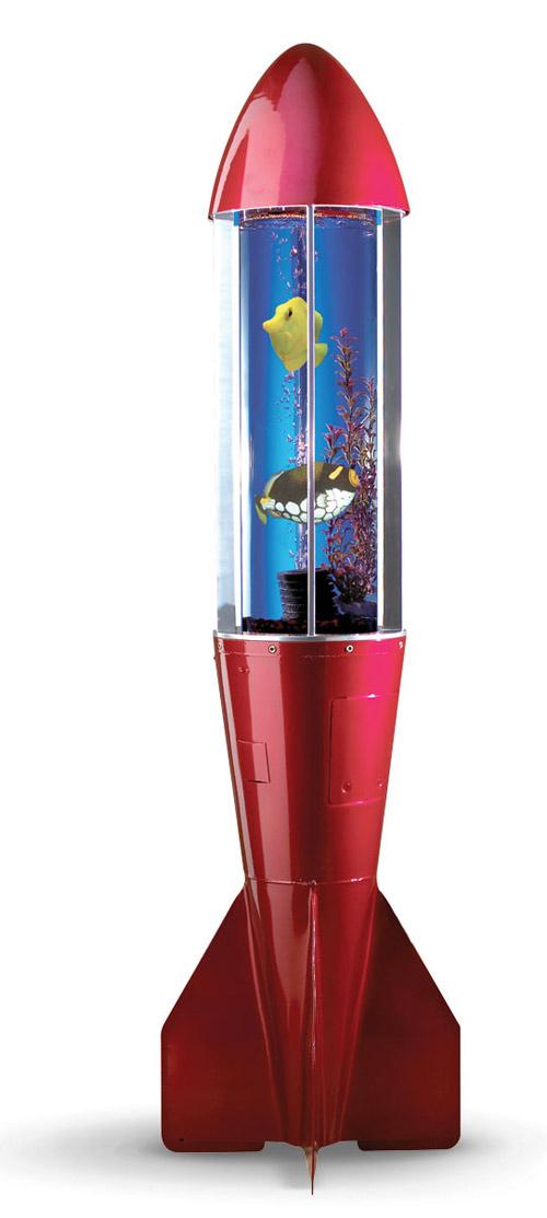 Aquarium made of actual bomb