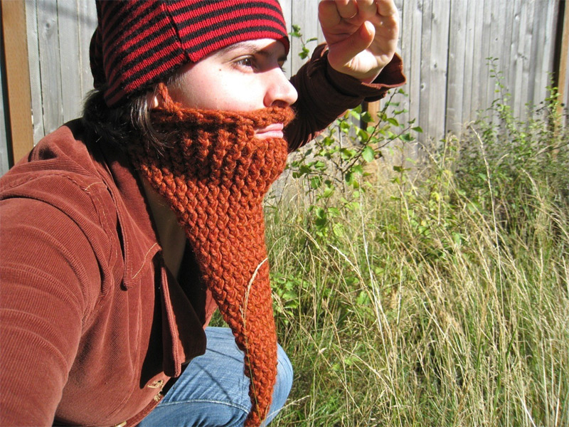 knit beard cap