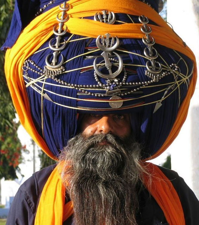 Big turban of Nihang Singh