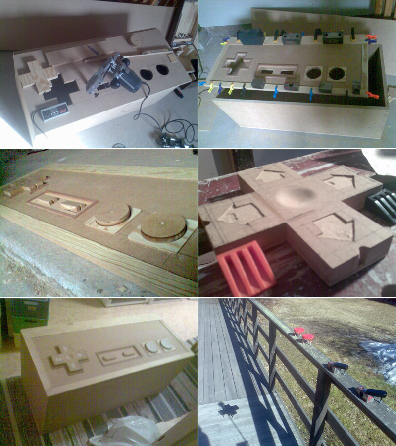 Photo log of the making of the Nintendo NES coffee table