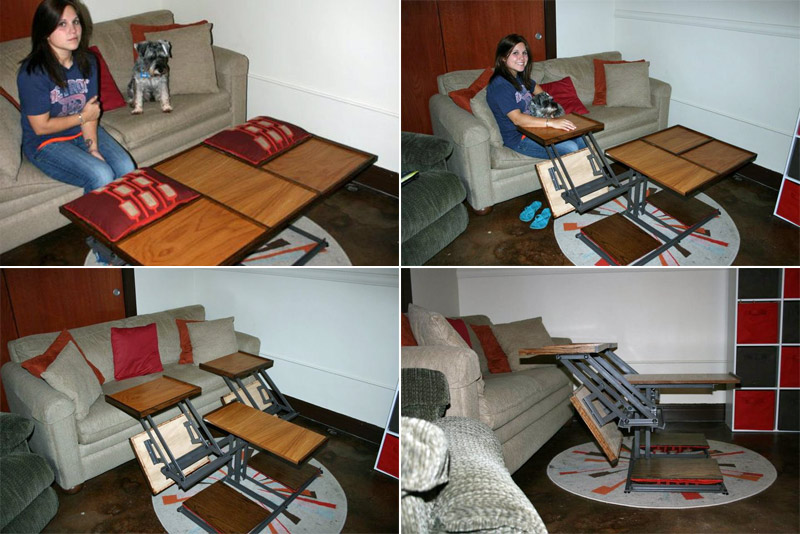 DIY transforming coffee table (and a happy girlfriend)