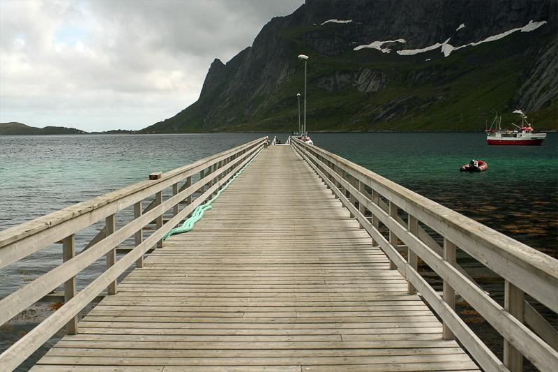 Ferry pier in Reine village