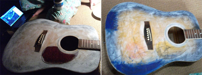 The making of van Gogh guitar