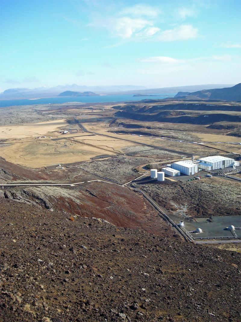Nesjavellir power plant and surrounding landscape
