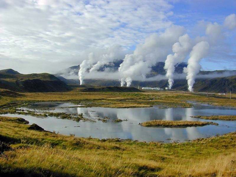 The view on the Nesjavellir geothermal power plant