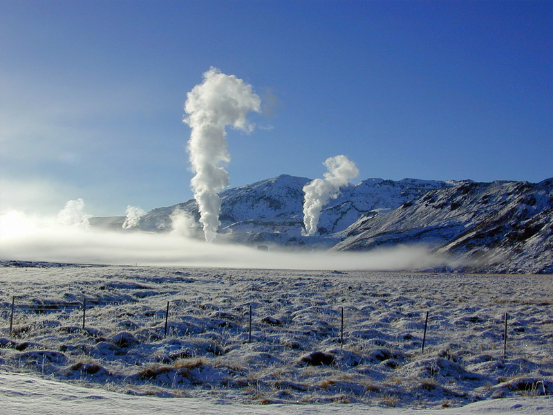 Nesjavellir power station in Winter