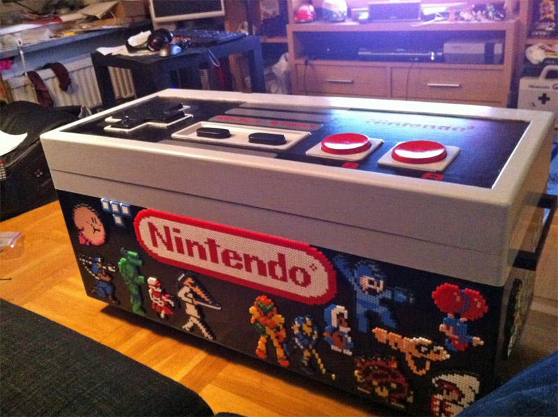 NES joystick coffee table