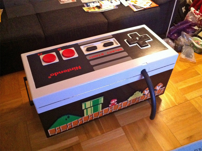 Nintendo NES joystick coffee table