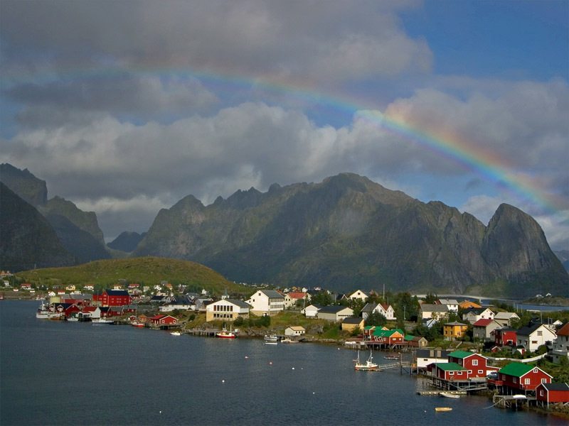 Rainbow over Raine