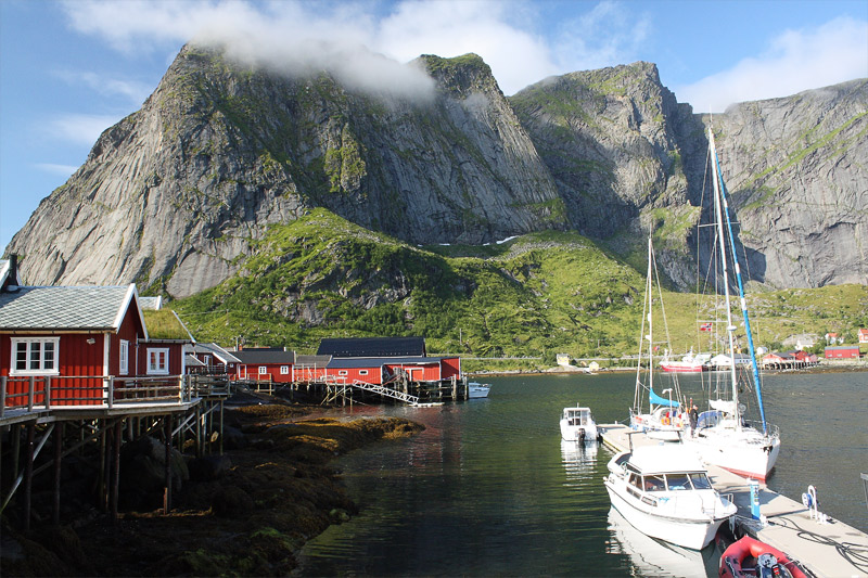 Boathouses in Reine